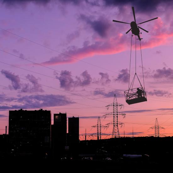 Webtool Emergency Cutter for Helicopter Basket during 'live-line' HV Pylon Maintenance